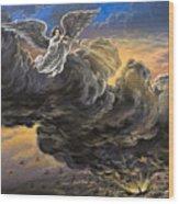 Fifth Trumpet Angel Wood Print