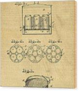 Original Patent For Canning Jars Wood Print
