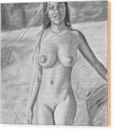 Original Pencil Drawing  Black Pearl Www.olgabell.ca Wood Print
