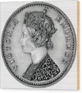 Original Silver Victoria Empress Wood Print