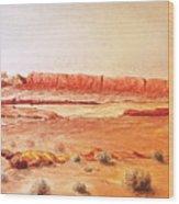 Original Western Artwork 21 Wood Print