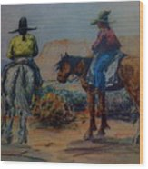 Original Western Artwork 23 Wood Print