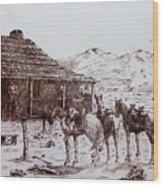 Original Western Artwork 5 Wood Print