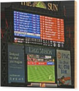 Orioles Game At Camden Yards Wood Print