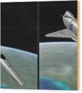 Orion IIi - Gently Cross Your Eyes And Focus On The Middle Image Wood Print