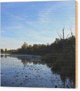 Orion's Lake At Sunset Wood Print