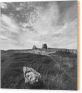Orme Rocks Wood Print