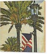 Ormond Beach Patriotic Wood Print