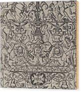 Ornament Panel: Mars, God Of Battles Wood Print