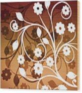 Ornamental 2 Warm Wood Print