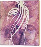 Ornamental Abstract Bird Minimalism Wood Print