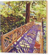 Ornamental Bridge Wood Print