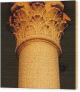 Ornamental Column Wood Print