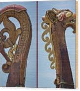 Ornamental Dragon Diptych Wood Print