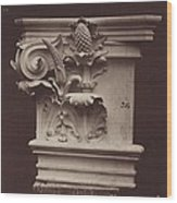 Ornamental Sculpture From The Paris Opera House (column Detail) Wood Print