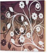 Ornametal 2 Purple Wood Print