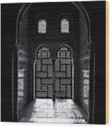 Ornate Alhambra Window Wood Print