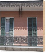 Ornate Balcony In New Orleans Wood Print