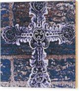 Ornate Cross 2 Wood Print