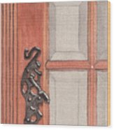 Ornate Door Handle Wood Print
