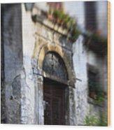 Ornate Italian Doorway Wood Print