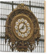 Ornate Orsay Clock Wood Print