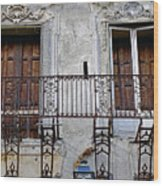Ornate Weathered Artistic Architecture Wood Print