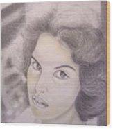 Ornella Vanoni Portrait Wood Print