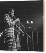 Ornette Coleman On Trumpet Wood Print
