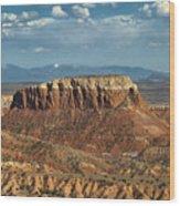 Orphan Mesa Wood Print