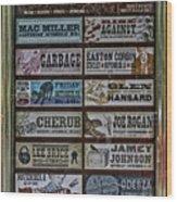 Orpheum Theater Playbill Wood Print