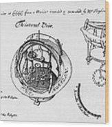 Orrery By Stephen Hales, 1705 Wood Print