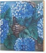 Ortencias Azules 2 Wood Print
