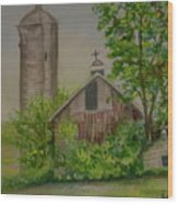 Orth Rd Barn Wood Print