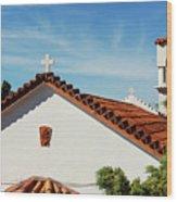 Orthodox Church In Loutraki, Greece Wood Print