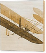 Orville Wright In Wright Flyer 1908 Wood Print