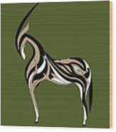 Oryx Wood Print