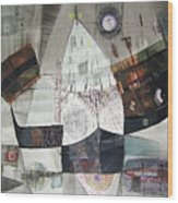 Os1957bo007 Abstract Landscape Of Potosi Bolivia 22 X 30.6 Wood Print