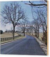 Osage County Road Wood Print
