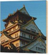 Osaka Castle Near Twilight Wood Print
