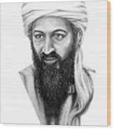 Osama Bin Laden Wood Print
