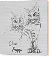 Oscar And Poppy Wood Print