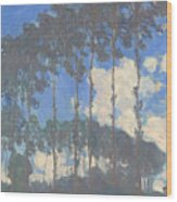 Oscar Monet   Poplars On The Epte Wood Print