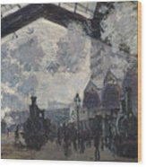 Oscar Monet   The Gare St Lazare Wood Print