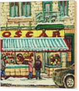 Oscar 's Candy Store Montreal Wood Print