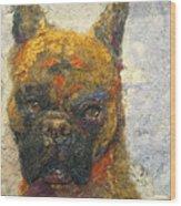 Oscar The Boxer Wood Print
