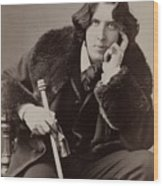 Oscar Wilde, 1854-1900 Irish Writer Wood Print