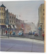 Oshkosh - Main Street Wood Print