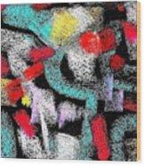 Osile Multicolor Wood Print