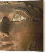 Osiris Statue Face Of Hatshepsut Wood Print